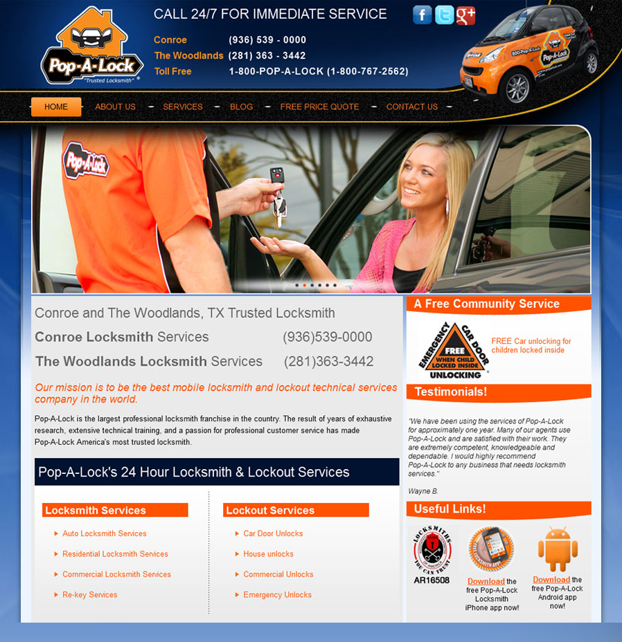 Pop-A-Lock Locksmith Services